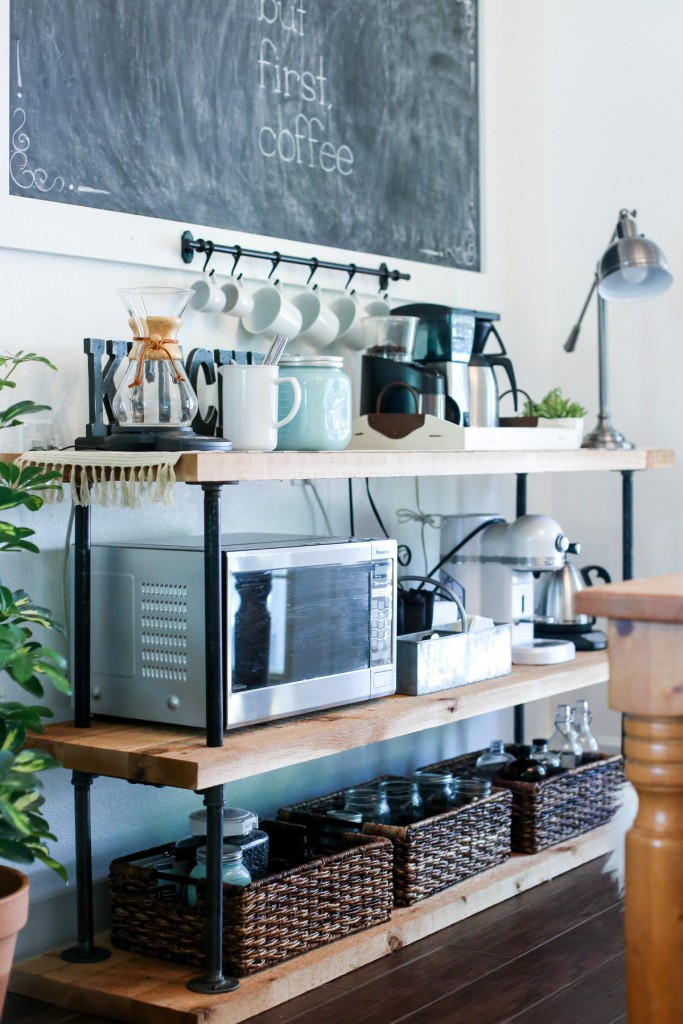 Industrial Pipe Coffee Station