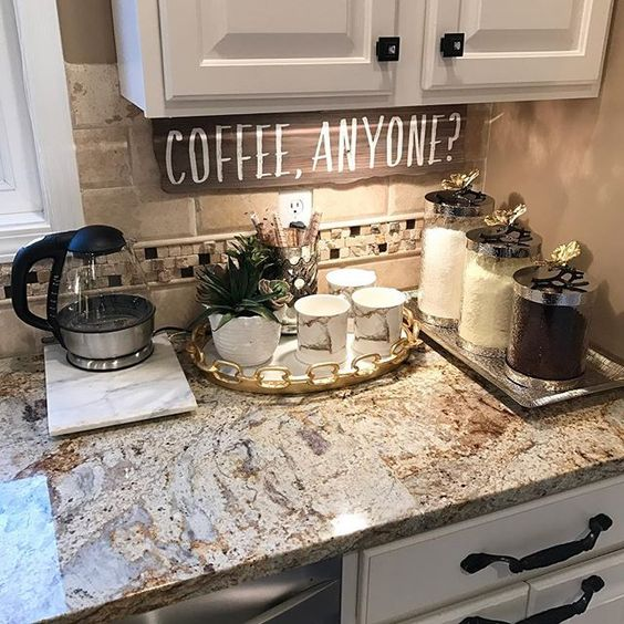 20 Coffee Station Ideas To Light Up Your Day - Craftsonfire on