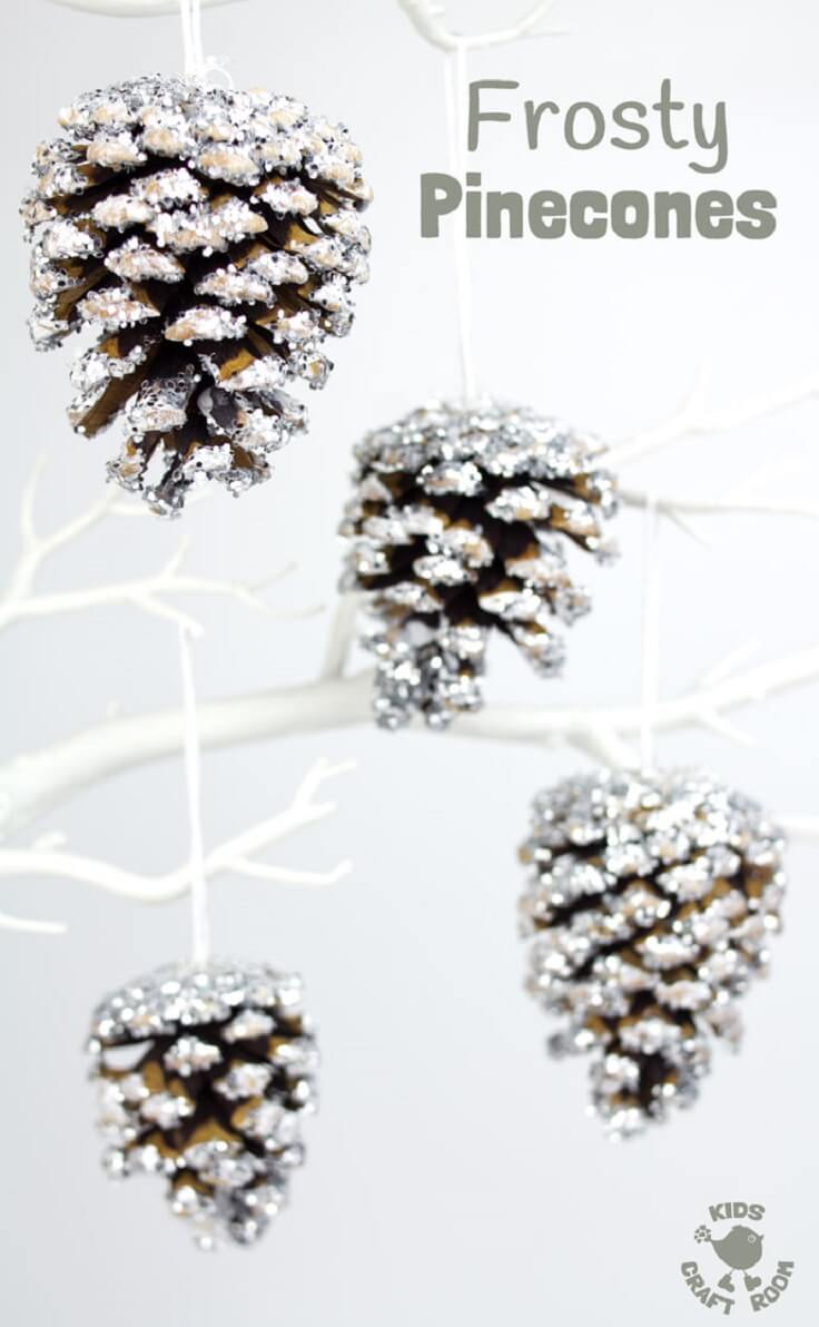 21 best diy pine cone craft ideas homemade christmas decorations - Crafty winter decorations with pine cones ...