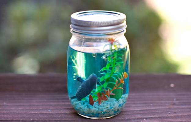 26 incredibly cute mason jar gifts everyone will adore craftsonfire aquarium mason jar gift idea solutioingenieria Gallery