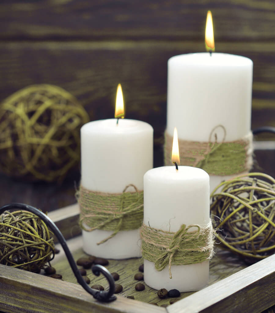 17 DIY Decorated Candle Ideas You'll Love - Crafts On Fire