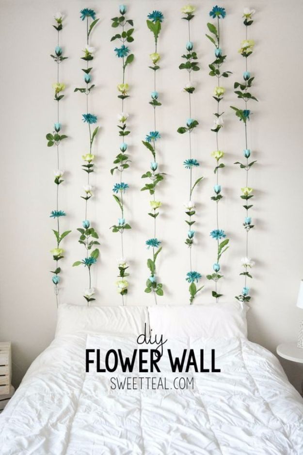 room diy decor. DIY Flower Walls 31 Easy Room Decor Ideas That Are Basically Magic  Craftsonfire