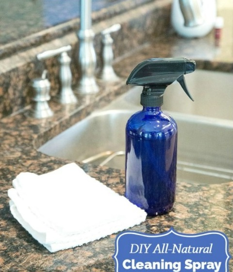 DIY Essential Oil Sprays - All Natural Cleaning Spray