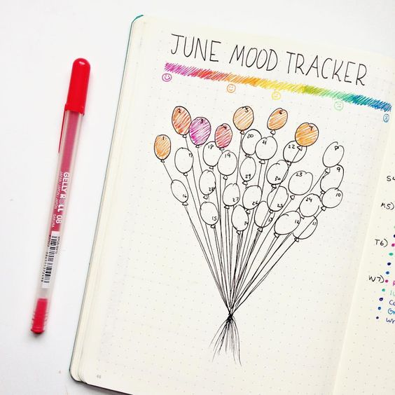 8 Best Bullet Journal Mood Trackers You Ll Rock Craftsonfire