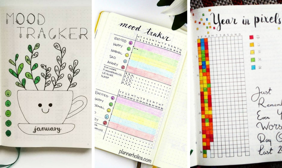 Bullet Journal Mood Trackers