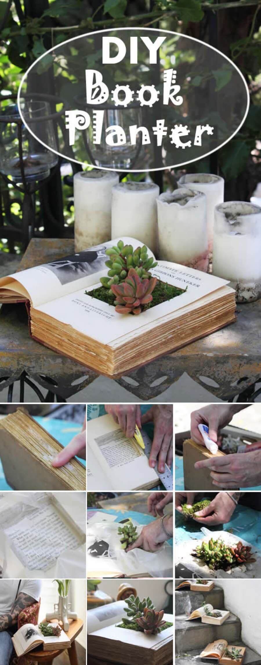 14 Unique DIY Project Ideas to Repurpose Old Books