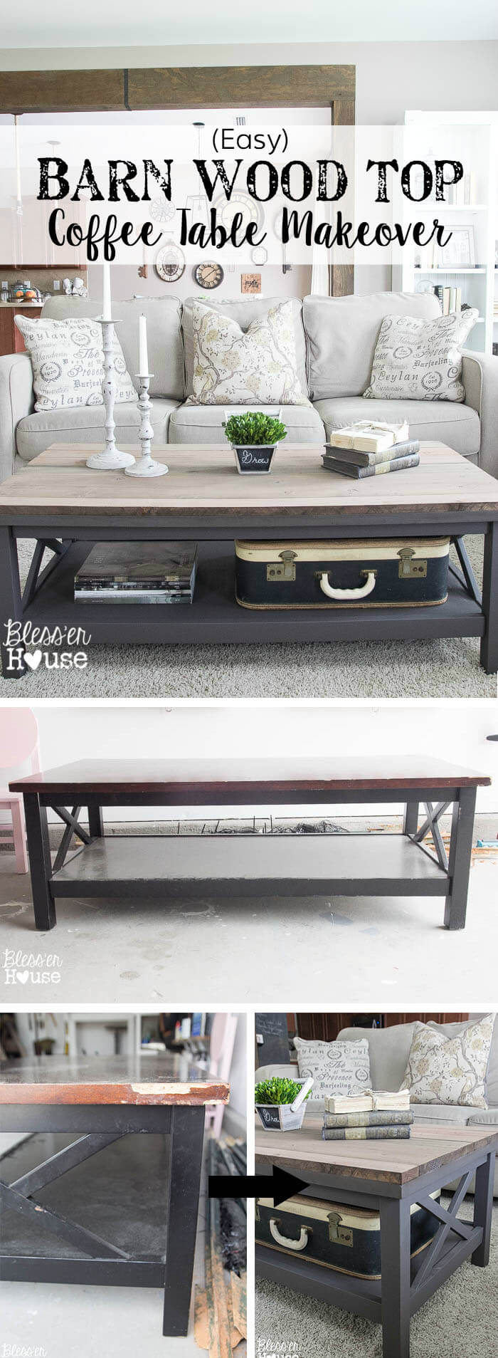 15 Easy Farmhouse Style DIY Coffee Table