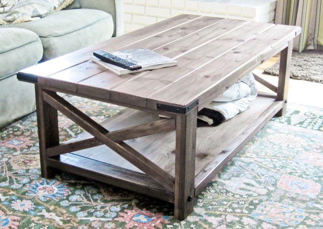 15 Easy Farmhouse Style DIY Coffee Table