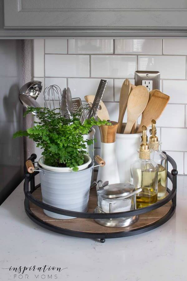 12 Best Kitchen Countertop Ideas To Be Well Organized ... on Counter Top Decor  id=33978