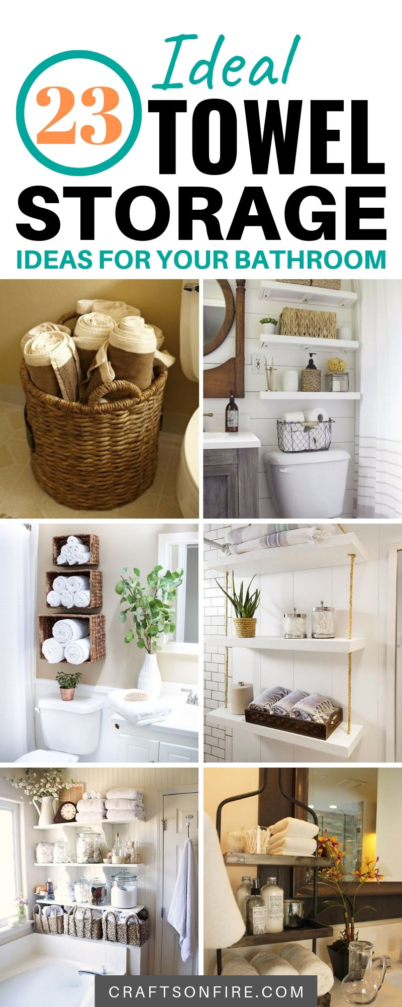 23 Great Towel Storage Ideas For 2019 That Really Work