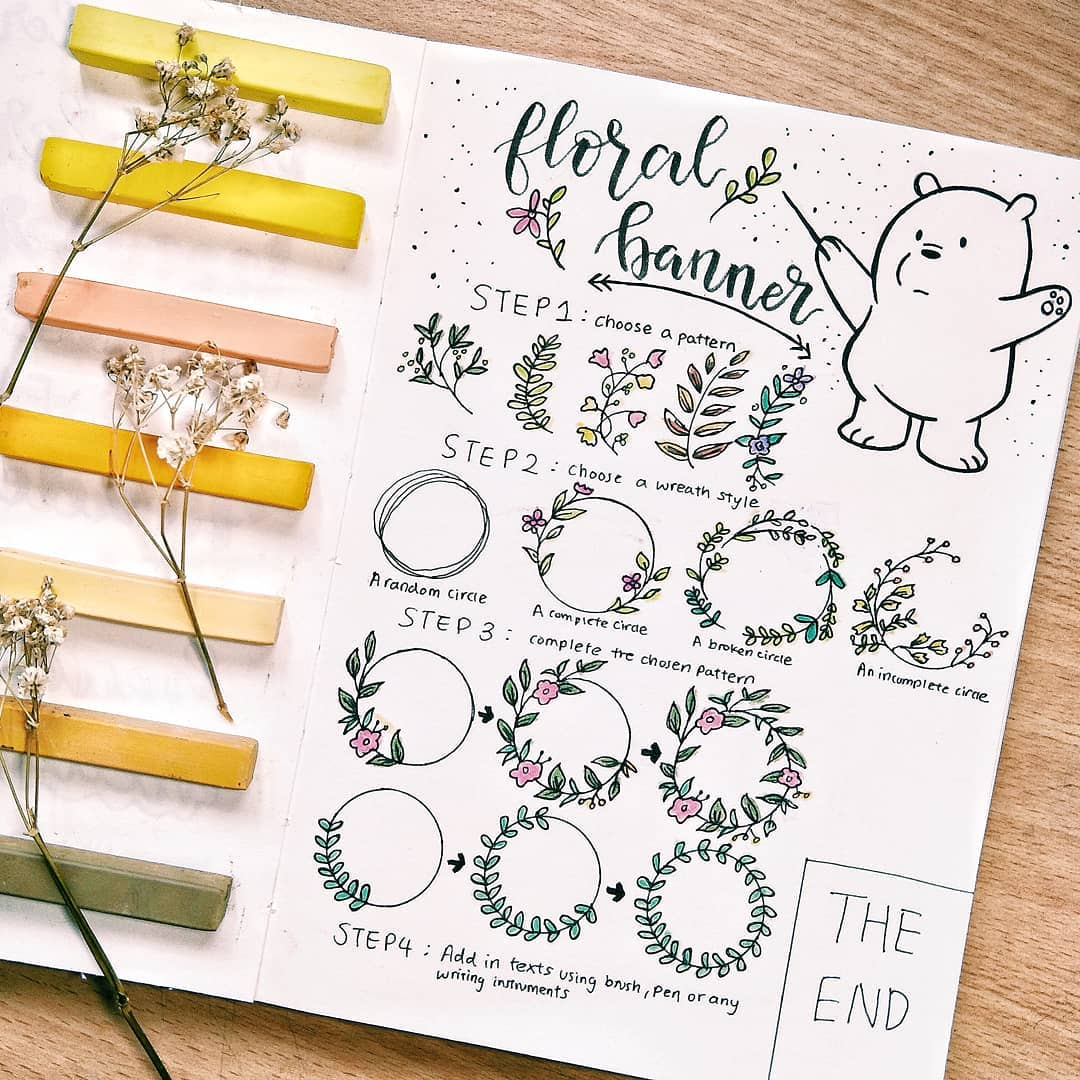 16 Doodle Tutorials (Step By Step) For Your Bullet Journal