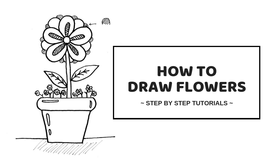 How To Draw Flowers Easy Ways To Draw Simple Flowers Craftsonfire