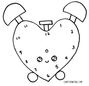 How To Draw A Clock Adorable Alarm Clock Drawing Craftsonfire
