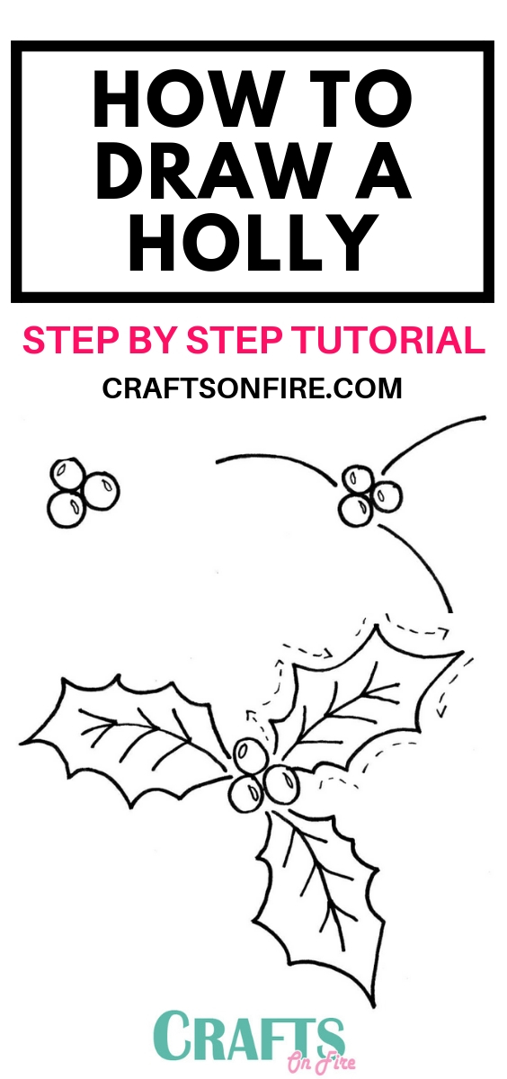 How To Draw A Holly Easy Drawing