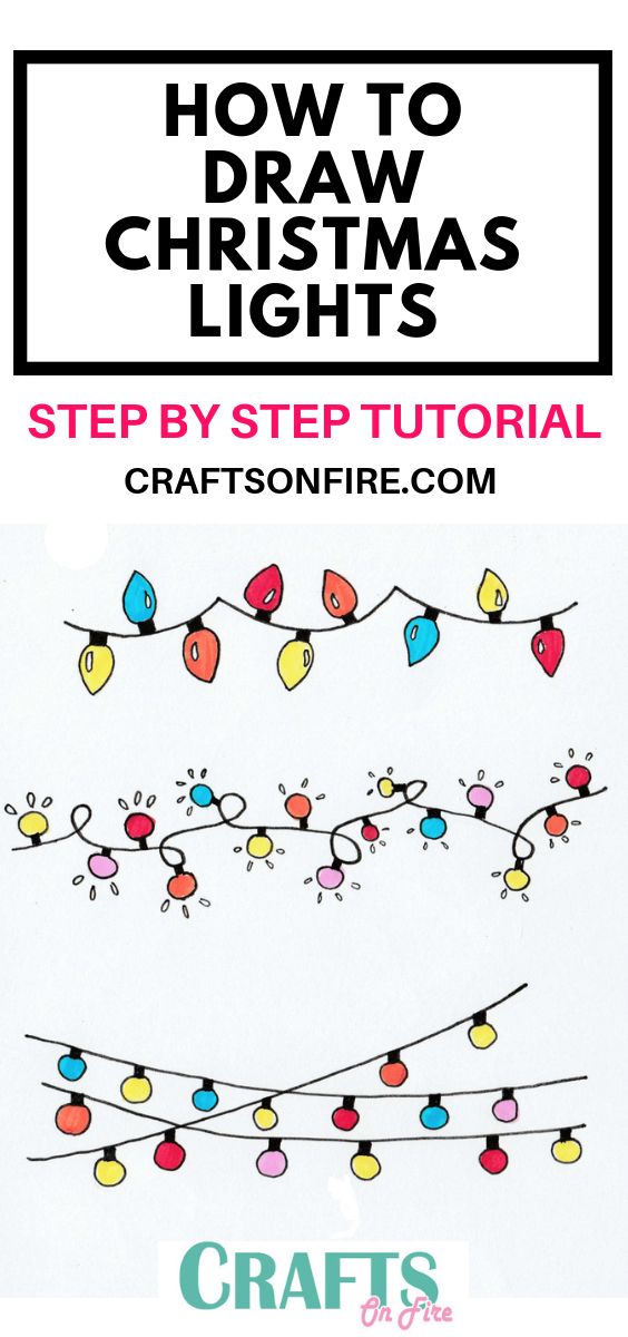 Christmas Drawing.How To Draw Christmas Lights Easy Step By Step Tutorial
