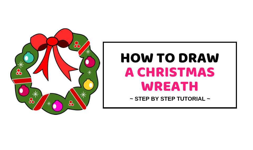 Christmas Wreath Drawing.How To Draw A Christmas Wreath Quick Easy Drawing