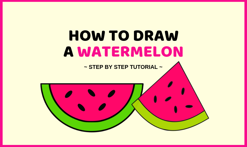 How To Draw A Watermelon Plus A Free Coloring Page Craftsonfire