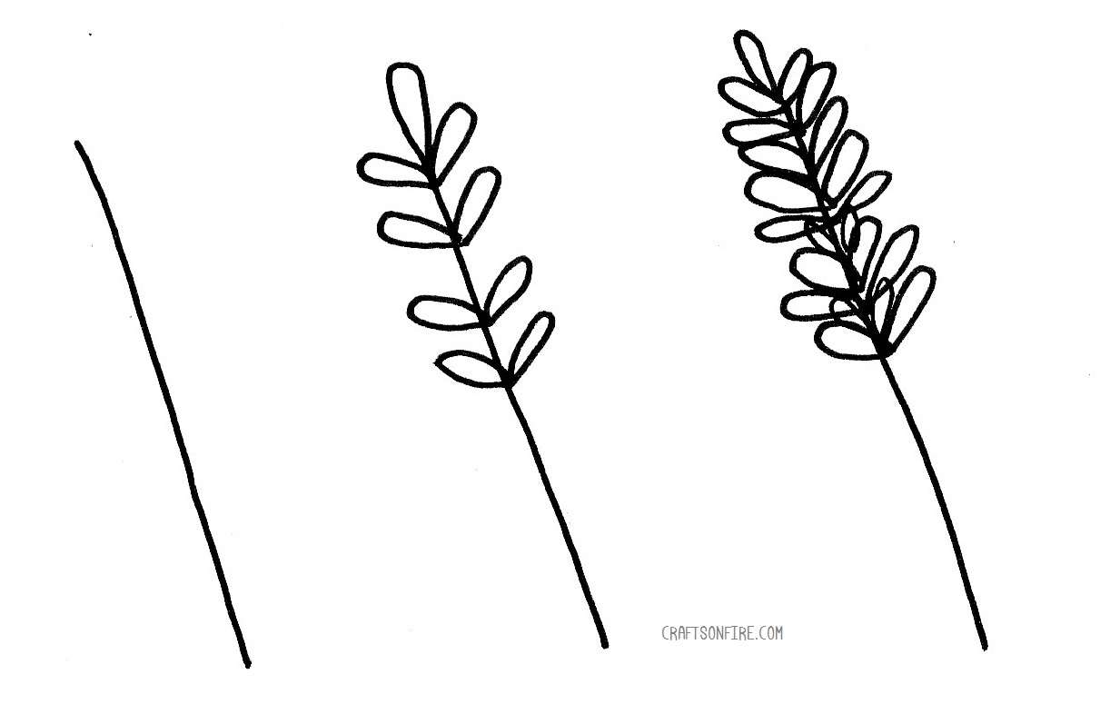 How To Draw Lavender Flowers Easy Step By Step Guide Craftsonfire